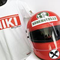 Niki Tee and Helmet